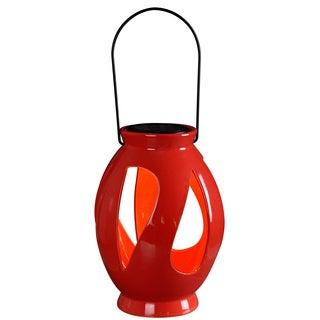 Twist Solar Lantern Red Finish