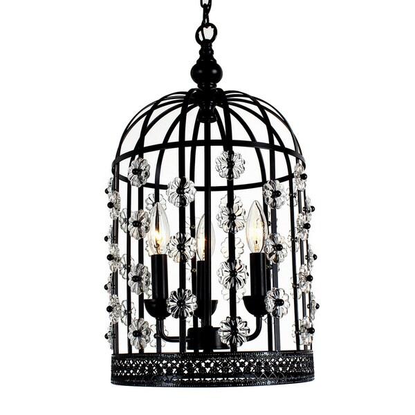 Bird Chandelier Lighting: Shop Chic Bird Cage Lantern 3-light Chandelier