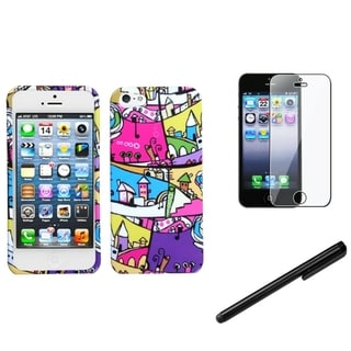 INSTEN Foreign Building Phone Case Cover/ Stylus/ LCD Protector for Apple iPhone 5/ 5C/ 5S/ SE