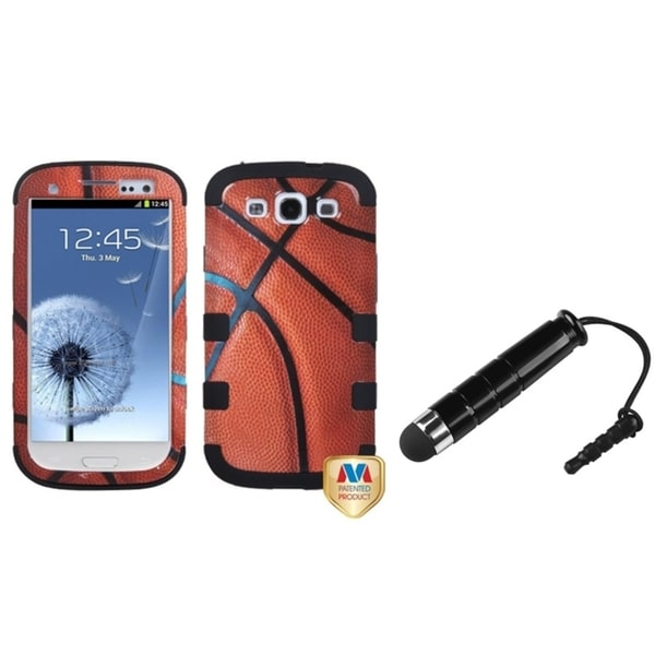 INSTEN Hybrid Protector Phone Case Cover/ Mini Stylus for Samsung Galaxy S3