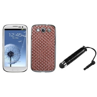 INSTEN Vermilion Silver Plating Phone Case Cover/ Stylus for Samsung Galaxy S3