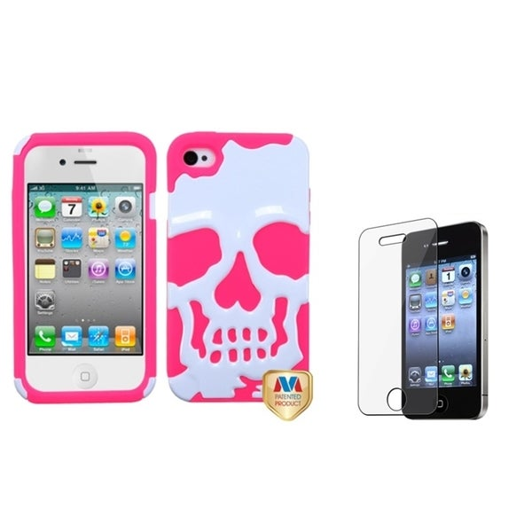INSTEN Hybrid Phone Case Cover/ Screen Protector for Apple iPhone 4/ 4S
