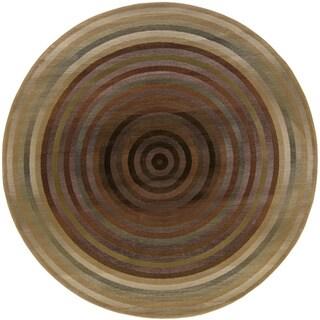 Generations Beige/ Green Rug (6' Round)
