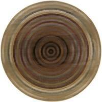 Generations Beige/ Green Rug (6' Round) - 6' Round