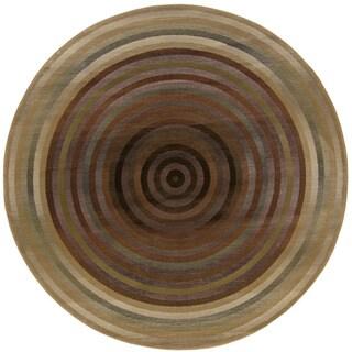Generations Beige/ Green Rug (8' Round)