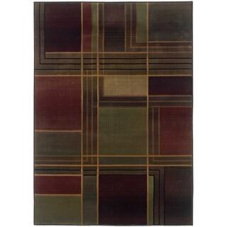 Kharma II Green/ Purple Rug (9'9 x 12'2)
