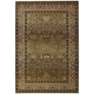 Generations Green/ Beige Area Rug (4' x 5'9)