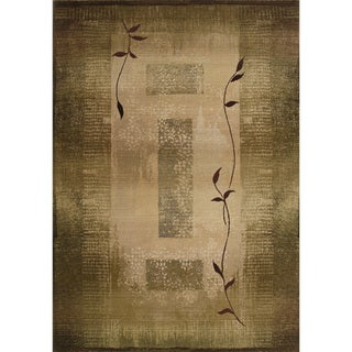 Generations Transitional Green/ Beige Rug (4' x 5'9)