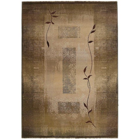 Generations Transitional Green/ Beige Rug (4' x 5'9) - 4' x 5'9""