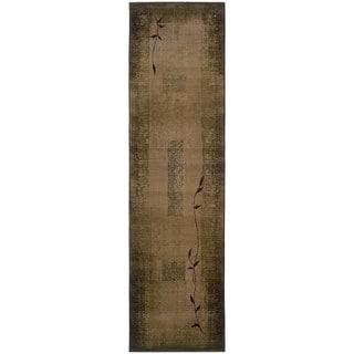 Generations Green/ Beige Runner Rug (2'7 x 9'1)