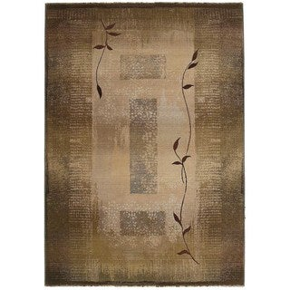 Generations Green/ Beige Floral Rug (7'10 x 11')