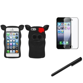 INSTEN Pig Nose Phone Case Cover/ Stylus/ LCD Protector for Apple iPhone 5/ 5C/ 5S/ SE