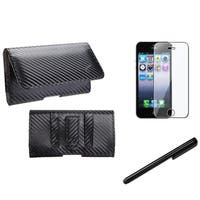 INSTEN Pouch-style Phone Case/ Stylus/ LCD Protector for Apple iPhone 5/ 5C/ 5S/ SE