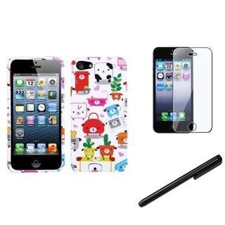 INSTEN Dog Lifestyle Phone Case Cover/ Stylus/ LCD Protector for Apple iPhone 5/ 5C/ 5S/ SE