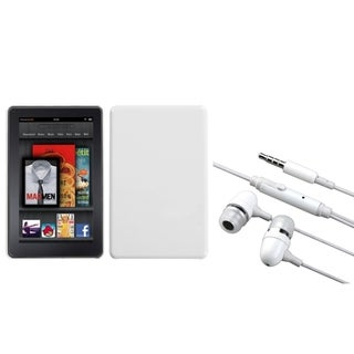 INSTEN Ivory White Phone Case Cover/ Handsfree Headset for Amazon Kindle Fire