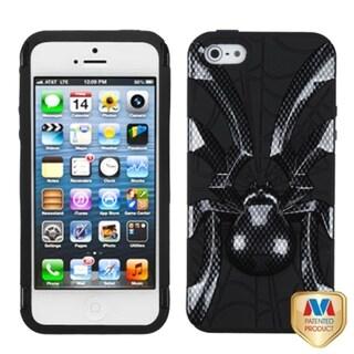 INSTEN Black Carbon Fiber/ Spiderbite Hybrid Phone Case Cover for Apple iPhone 5