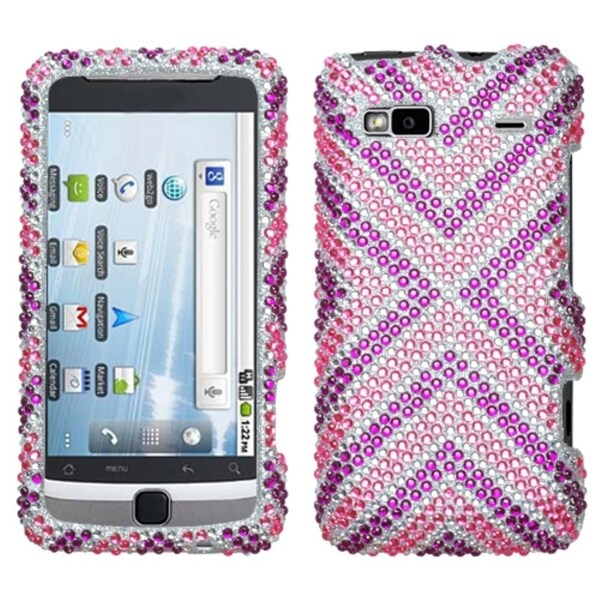 INSTEN Cautions/ Diamante Phone Case Cover for HTC G2 Vision