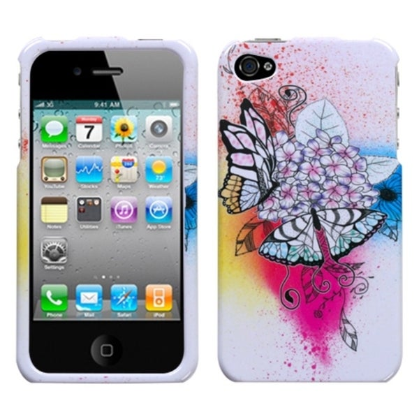 INSTEN Butterfly Paradise Phone Case Cover for Apple iPhone 4S/ 4