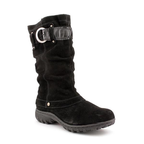 Khombu Women's 'Igloo 2' Regular Black Suede Boots