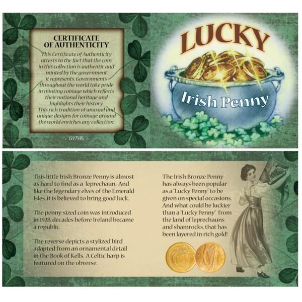 American Coin Treasures Bankers Bag of Lucky Irish Pennies