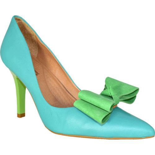 Women's Bruno Menegatti 1978714 Aqua Green Leather