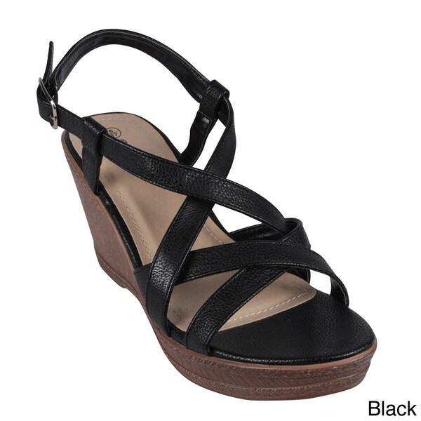 Reneeze Women's 'DEBRA-04' Strap Wedge Sandals