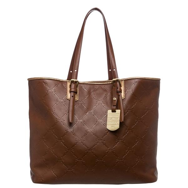 Shop Longchamp  LM Cuir  Medium Cognac  Goldtone Leather Tote - Free ... 1238ce3c89