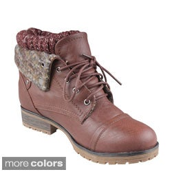 Refresh 'Wynne-01' Women's Boots - Free Shipping On Orders Over ...