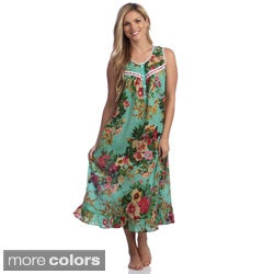 La Cera Cotton Print Gown