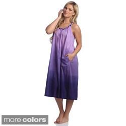 Women's Braided Strap Cotton Gown