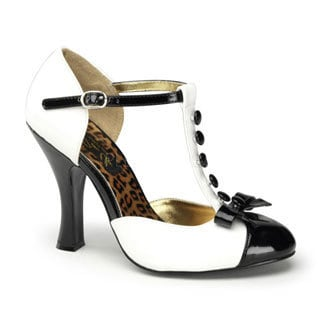 Pinup Couture Women's 'Smitten-10' T-strap D'orsay Pumps