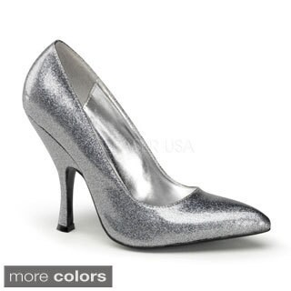 Pinup Couture Women's 'Bombshell' Glittery Pointed Toe Pumps