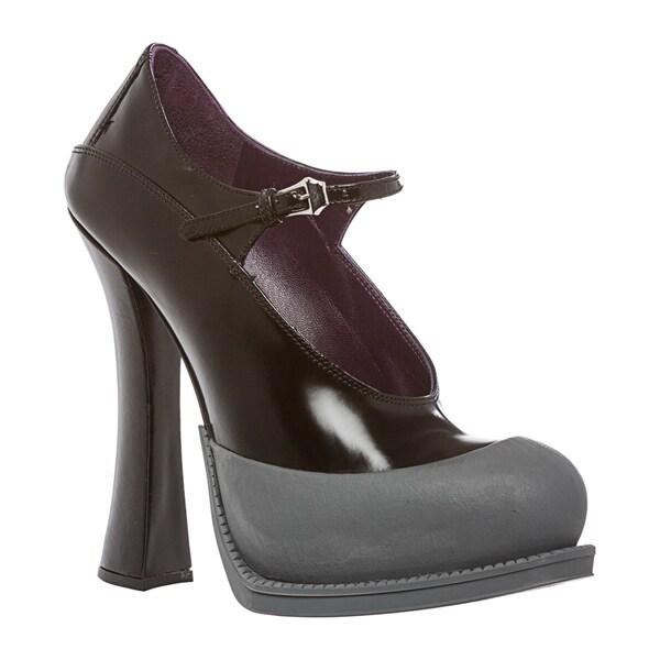 Prada Women's Leather Mary Jane Pump