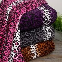 shop boon lightweight printed safari animal flannel fleece blanket