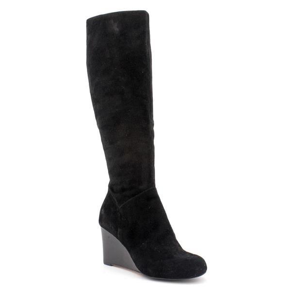 cole haan s cora wedge boot regular suede boots