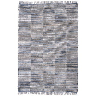 Blue Jeans Woven Denim Checkers & Hemp (30 x 50)