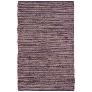 Purple Jeans Hand-woven Denim & Hemp (4' x 6')