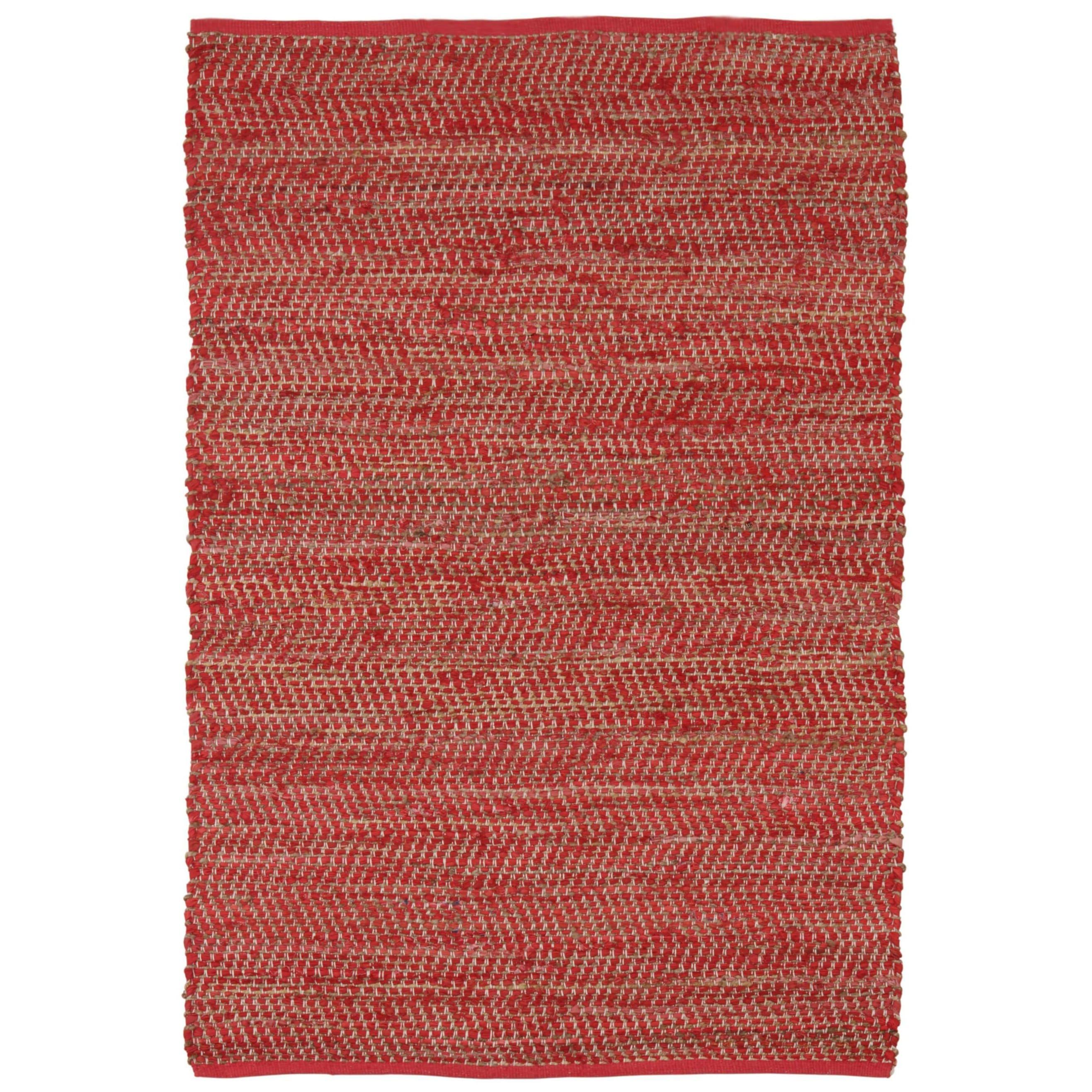 St. Croix Red Jeans Hand-woven Denim & Hemp (4' x 6') (Re...