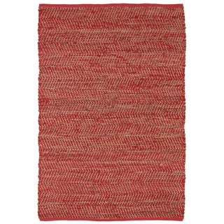 Red Jeans Hand-woven Denim & Hemp (4' x 6')