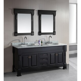 Design Element Marcos 72-Inch Espresso Finish Double Sink Vanity Set