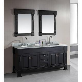 Design Element Marcos 72 Inch Espresso Finish Double Sink Vanity Set