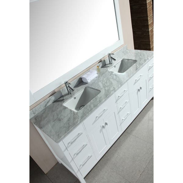 78 Inch Double Sink White Vanity