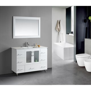 Design Element Stanton 48-Inch Single Drop-In Sink Vanity