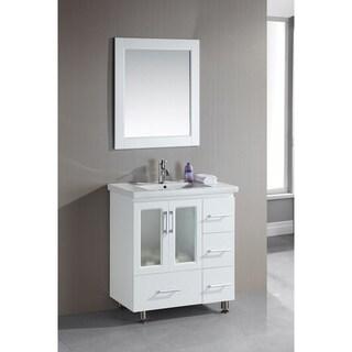 Design Element Stanton 32 Inch Single Drop In Sink Vanity