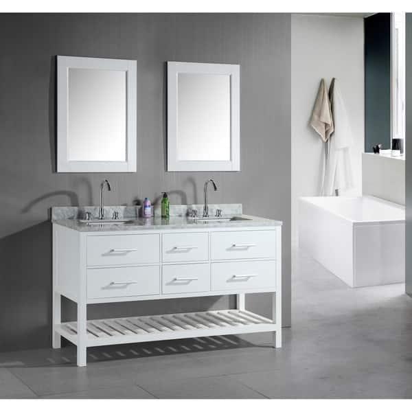 Shop Design Element London 60 Inch Double Sink Bathroom White Vanity Set Overstock 8223767,Paper Shredder Reviews Nz