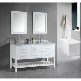 white vanity double sink. Design Element London 60 Inch Double Sink Bathroom White Vanity Set 61 70 Inches Vanities  Cabinets For Less