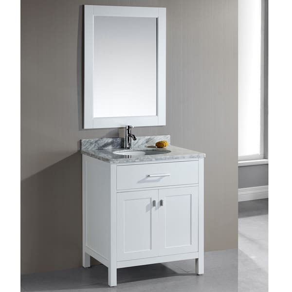 Design Element London 30 Inch Single Sink White Bathroom Vanity Set Free Shipping Today