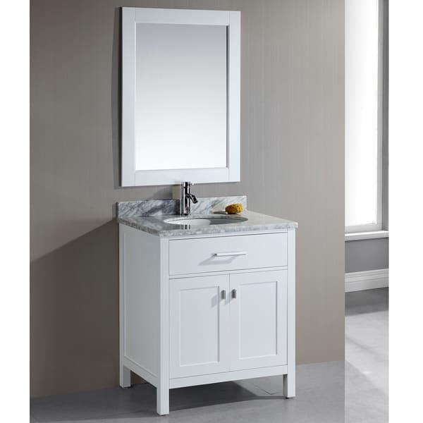 Design Element London 30-Inch Single Sink White Bathroom ...