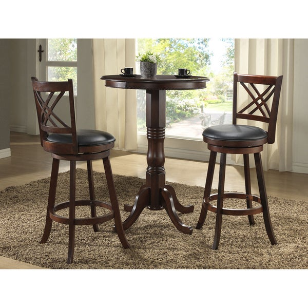 Whitaker Furniture Walnut 30 Inch Round Pub Table Set