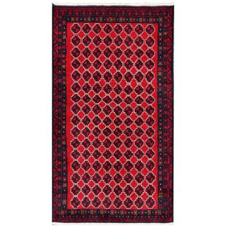 Herat Oriental Afghan Hand-knotted Tribal Balouchi Wool Rug (3'5 x 6'4)